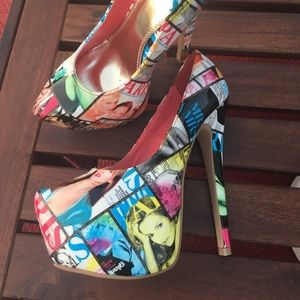 New Shi by Journeys Fashion Mag heels. Sz 6